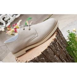 Zapatos de comunion, vestir, ceremonia, para niño, en ante Lemur