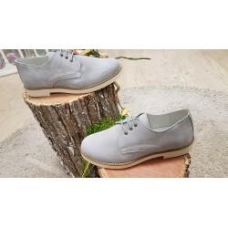 Zapatos de comunion, vestir, ceremonia, para niño, ultraligeros para una gran comodidad ese dia, en antes gris