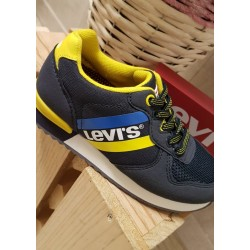 Sneakers de Levis navy/yellow, con cordon de goma