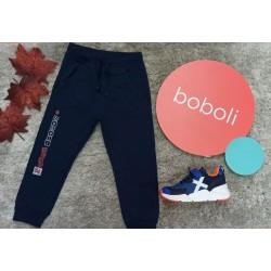 Pantalon de algodon azul marino de la firma Boboli