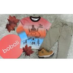 Conjunto de camiseta y pantalon de la firma Boboli