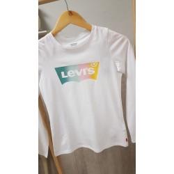 Camiseta Levi´s para niña con Logo multicolor con brillos