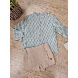 Conjunto de niño de 2 piezas, pantalon y camisa