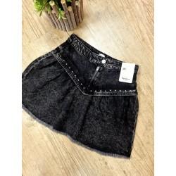 Falda de Pepe Jeans niña con tachas denim negro lavado