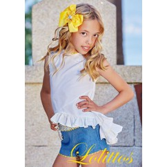 Conjunto de short y blusa Margarita de Lolittos