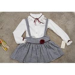 Conjunto de falda con tirantes y blusa de Alhuka