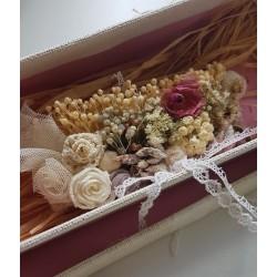 Pasadores románticos estilo rústico  Rusmontaraz, con flores de crochet